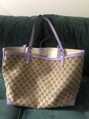 Gucci Leinen Tasche canvas Shopping bag craft monogramm