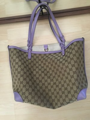 Gucci Leinen Tasche canvas Shopping bag craft monogramm