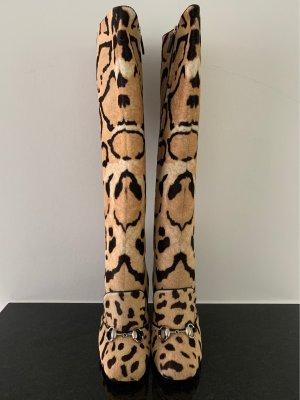 GUCCI Leopard Print Malaga Stiefel