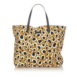 Gucci Leopard Printed Nylon Tote Bag
