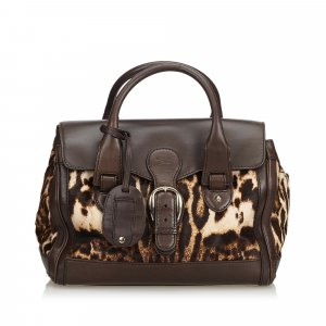 Gucci Leopard Printed Pony Hair Handbag