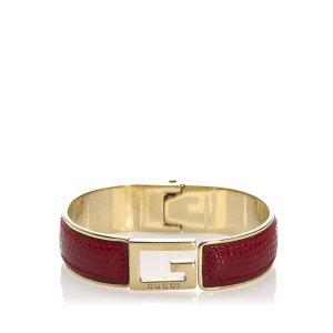 Gucci Lizard Leather Bracelet