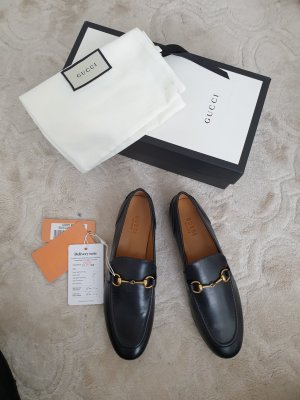Gucci Wingtip Shoes black-gold-colored
