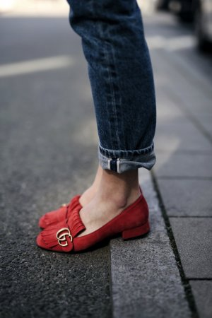 Gucci Loafers Rot Gr. 36
