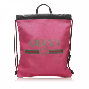 Gucci Backpack pink leather
