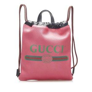 Gucci Plecak różany Skóra
