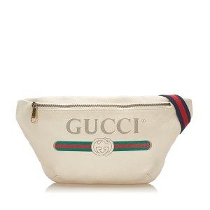 Gucci Banane blanc cuir