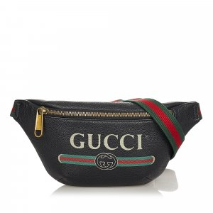 Gucci Riñonera negro Cuero