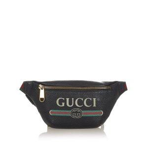 Gucci Buiktas zwart Leer