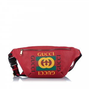 Gucci Logo Leather Belt Bag