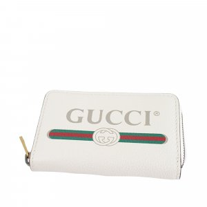 Gucci Logo Leather Coin Pouch