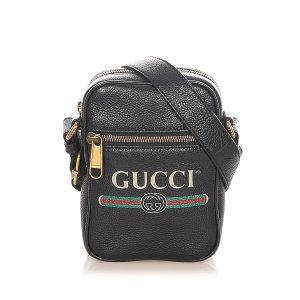 Gucci Torba na ramię czarny Skóra