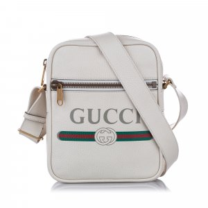 Gucci Bandolera blanco Cuero