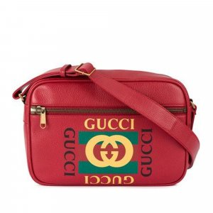 Gucci Logo Leather Crossbody Bag