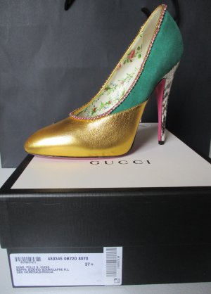 Gucci Luxus Pumps, Gr 37,5 , NEU,  Leder