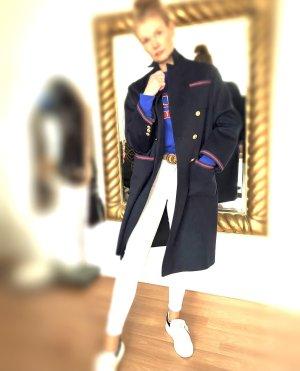 Gucci Mantel 36 M 38 Horsebit oversized Lange Jacke Wolle Gold Knopf