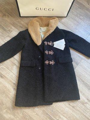 Gucci Wełniany płaszcz czarny
