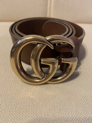 Gucci Leather Belt light brown-bronze-colored