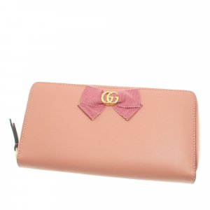 Gucci Marmont Bow Leather Long Wallet