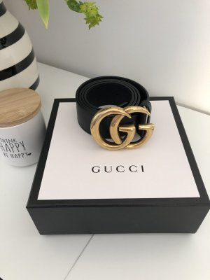 Gucci Lederen riem zwart-goud Leer