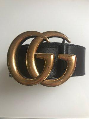 Gucci Leather Belt black-gold-colored