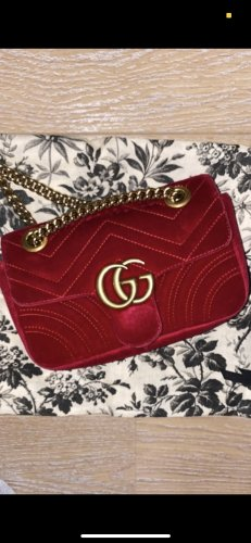 Gucci marmont in rot
