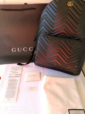 GUCCI MARMONT MATELASSÉ CHEVRON LEATHER BACKPACK NEW UNISEX