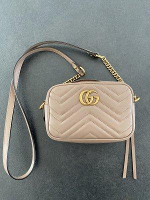 Gucci Marmont Matelassé Mini Bag Taupe