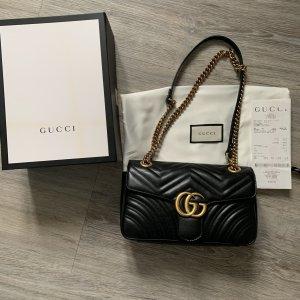Gucci Marmont Matelasse schwarz medium Tasche Umhängetasche
