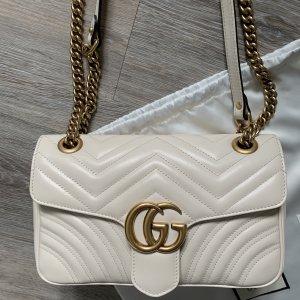 Gucci Marmont Matelasse Tasche weiß Creme