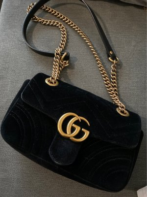 Gucci Gekruiste tas zwart-goud