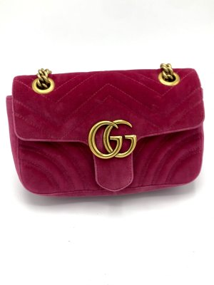 Gucci Marmont samt pink Farbe Mini mit Rechnung