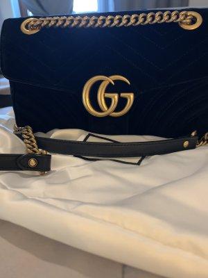 Gucci Marmont samt schwarz in der Größe L