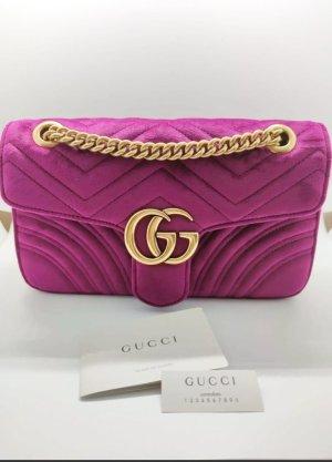 Gucci Handtasche samt Shoulder Bag violet velvet