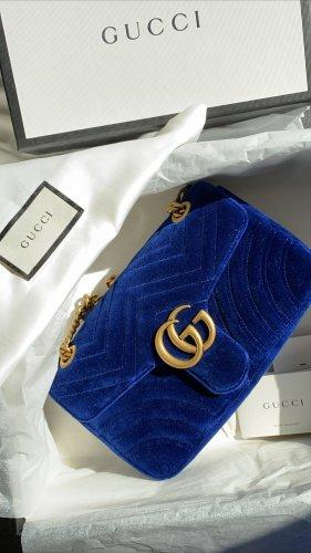 Gucci Marmont velvet Cobalt