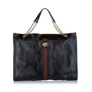 Gucci Maxi Rajah Leather Tote Bag