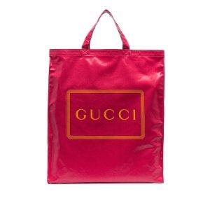 Gucci Torebka typu tote czerwony Bawełna