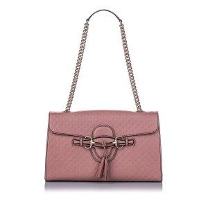Gucci Sac porté épaule rose clair cuir