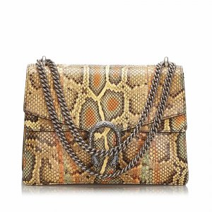 Gucci Shoulder Bag beige reptile leather