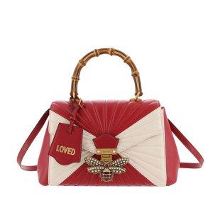 Gucci Medium Queen Margaret Bamboo Top Handle Satchel