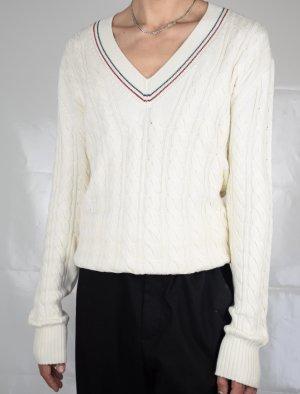 Gucci V-Neck Sweater natural white