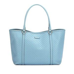 Gucci Borsa larga azzurro Pelle