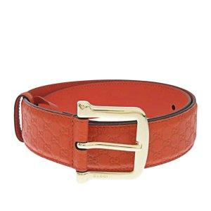Gucci Belt orange leather