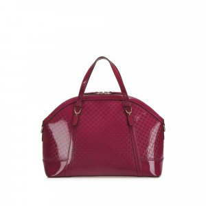 Gucci Microguccissima Nice Patent Leather Satchel
