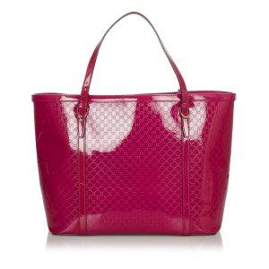 Gucci Microguccissima Nice Patent Leather Tote Bag