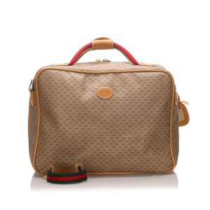 Gucci Sac de voyage beige chlorofibre