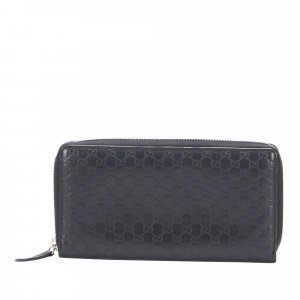 Gucci Microguccissima Zip Around Leather Wallet