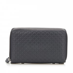 Gucci Microguccissima Zip Around Long Wallet