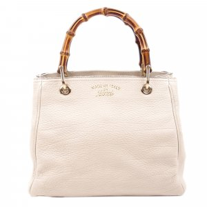 Gucci Mini Bamboo Leather Shopper
