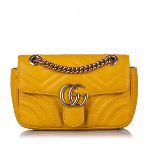 Gucci Mini GG Marmont Leather Crossbody Bag
